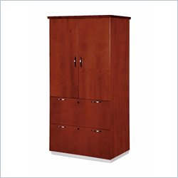 DMi Pimlico Veneer 2 Drawer Lateral Wood File Storage Cabinet in Bronze Cherry
