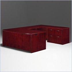 DMi Summit Bow Front U-Shape Wood Desk in Cherry(Flat Pack)