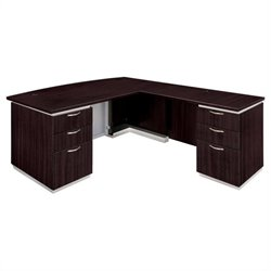 DMi Furniture Pimlico Laminate Executive Right Bow Front L-Shaped Desk (Assembled)