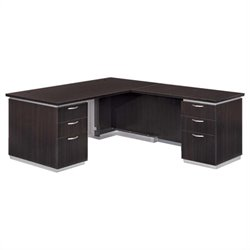 DMi Pimlico Laminate Executive 72 in. Right L-Shaped Desk (Flat Pack)