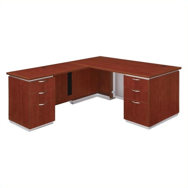 DMi Pimlico Laminate Executive 72 in. Left L-Shaped Desk (Flat Pack)
