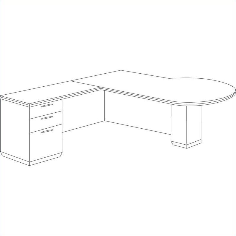 DMi Pimlico Left Peninsula L-Shape Wood Desk (Flat Pack)