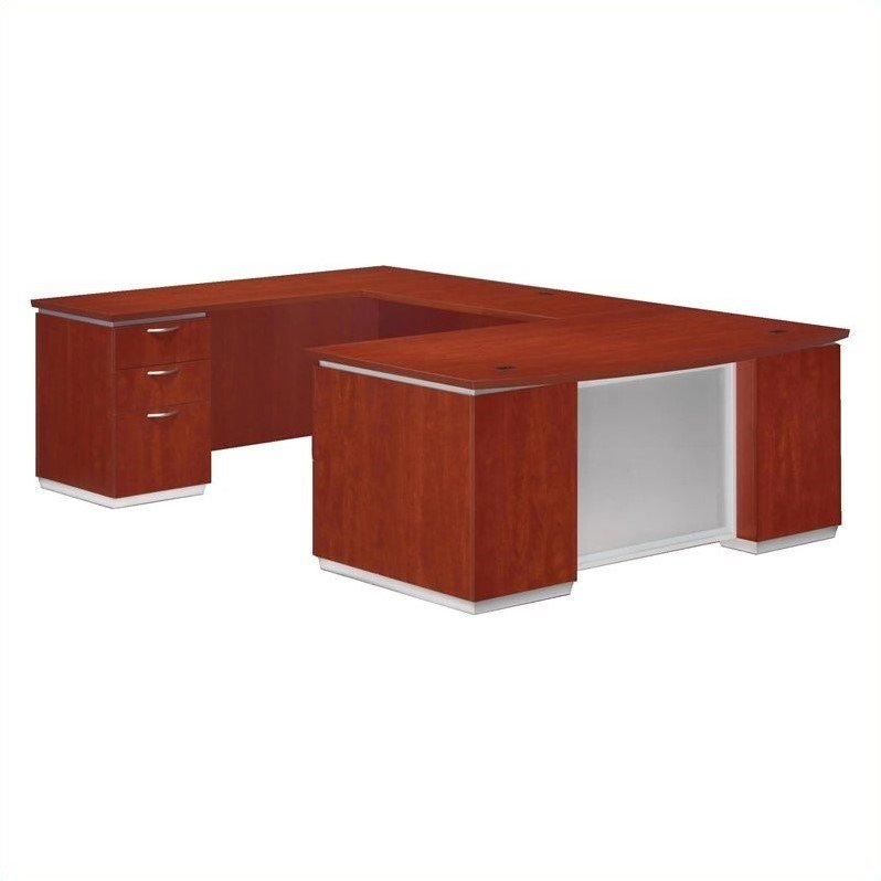 DMi Furniture Pimlico Laminate Executive Left Bow Front U-Shaped Desk (Assembled)