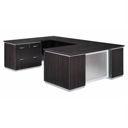 DMi Pimlico Left Lateral File U-Shape Wood Desk (Assembled)