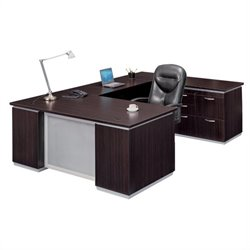 DMi Pimlico Right Personal File U-Shape Wood Desk (Flat Pack)