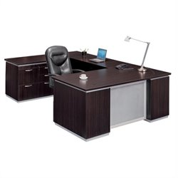 DMi Pimlico U-Shape Left Wood Computer Desk Set (Flat Pack)