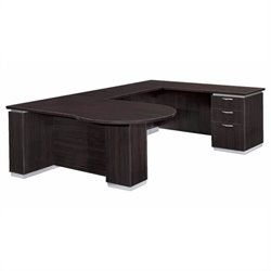 DMi Pimlico Right U-Shape Wood Peninsula Desk (Partially Assembled)