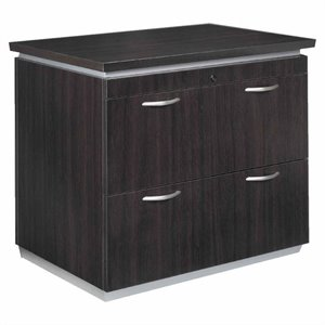 Flexsteel Pimlico Laminate 2 Drawer Lateral Wood File in Mocha Finish