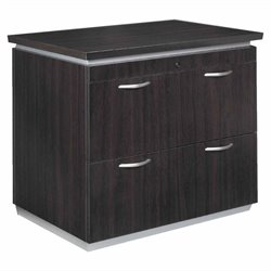 DMi Pimlico Laminate 2 Drawer Lateral Wood File in Mocha Finish