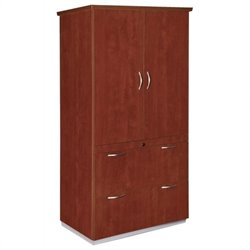 DMi Pimlico Laminate 2 Drawer Wood Lateral File Storage Cabinet - Mocha