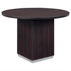 DMi Pimlico Laminate 3.5' Round Conference Table with Column Base - Mocha