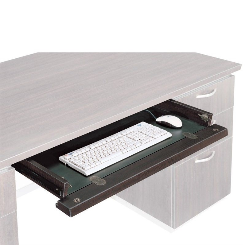 DMi Pimlico Laminate Optional Center Drawer for 72 in. Desks and Credenzas in Mocha
