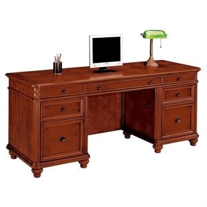 Flexsteel Antigua Wood Kneehole Credenza in Cherry