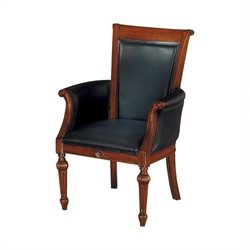 DMi Antigua High Back Guest Chair in Black Leather