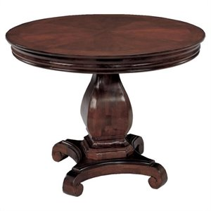Flexsteel Rue de Lyon 3.5' Round Conference Table in Chocolate