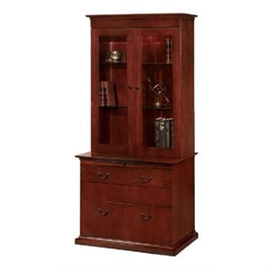 Flexsteel Del Mar Lateral Wood Drawer Bookcase in Sedona Cherry