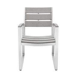 Ansville Patio Dining Chair in Gray (Set of 2)