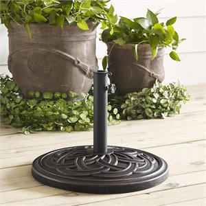 Round Circle Weave Umbrella Base in Antique Bronze