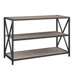 MER-1275 2 Shelf X-Frame Metal Media Bookcase