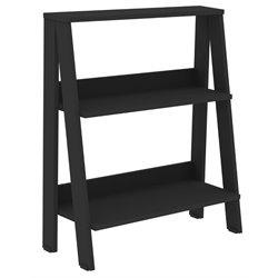 Walker Edison Ladder Bookcase in Black
