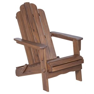 Acacia Adirondack Chair in Dark Brown