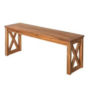 X-Frame Patio Bench in Brown
