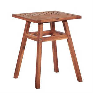 Outdoor Patio Wood Side Table - Brown