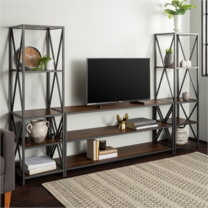 3-Piece Entertainment Center - Dark Walnut