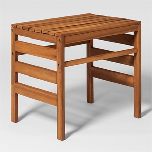 Walker Edison Modular Outdoor Acacia Side Table in Brown