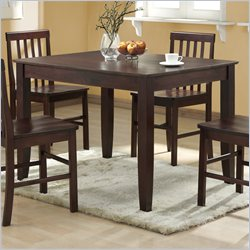 Walker Edison Solid Wood Rectangular Casual Dining Table in Espresso