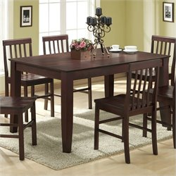 Solid Wood Casual Dining Table in Espresso Finish