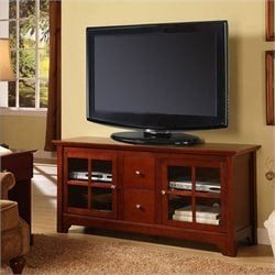 Walker Edison 52 Inch Solid Wood TV Stand with Drawers
