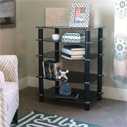 Everest Multi Level Component Stand in Black