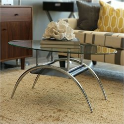 Walker Edison 38 Inch Black Mesh Coffee Table