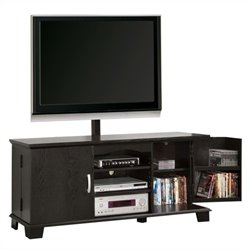 Walker Edison 60 in. Wood TV Console with Mount in Black