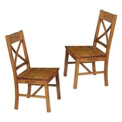 Walker Edison Millwright Dining Chair in Antique Brown (Set of 2)