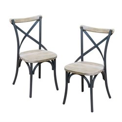 Deluxe Dining Chair in Antique Black (Set of 2)