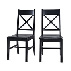 Walker Edison Millwright Dining Chair in Black (Set of 2)