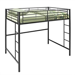 Walker Edison Metal Full/Double Loft Bunk Bed in Black
