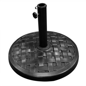 Round Weave Umbrella Base in Black