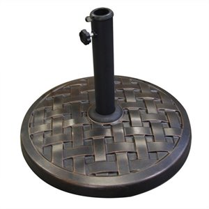 Round Weave Umbrella Base in Antique Bronze