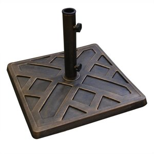 Square Umbrella Base in Antique Bronze