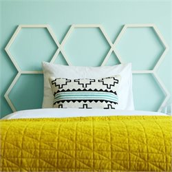 Walker Edison Honeycomb Headboard in White