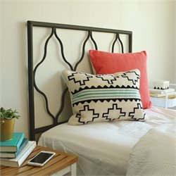 Walker Edison Moroccan Headboard in Black