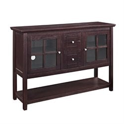 53'' Wood Console Table TV Stand in Espresso