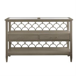 Coastal Living Oasis-Sea Cloud Console Table in Grey Birch
