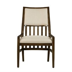 Stanley Furniture Santa Clara Upholstered Chair in Burnished Walnut