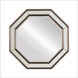 Stanley Furniture Hudson Street Octagonal Mirror in Dark Espresso
