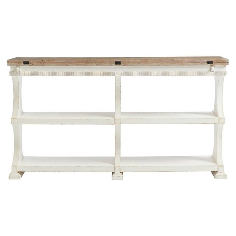 Juniper dell flip top table in 17th century white 615 25 05 for Table th rotate
