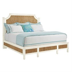 Coastal Living Resort Water Meadow Woven Bed Queen in Nautical White